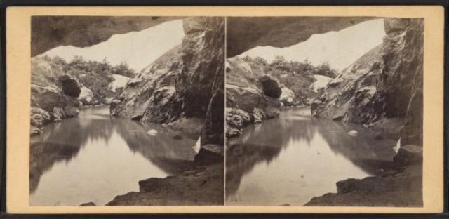 View of the Lake from the Cave (Image courtesy of the New York Public Library)