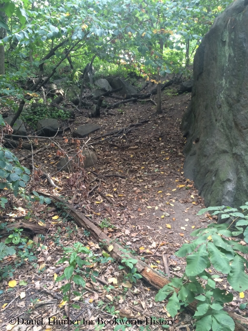 ramble-cave-hillside-back-entrance-today-central-park-new-york-city-bookworm-history-daniel-thurber