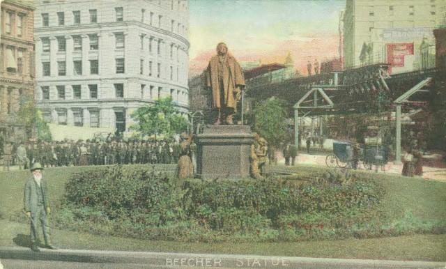 Beecher Statue