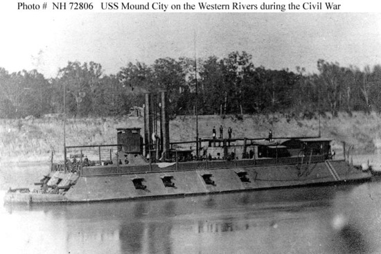 USS Mound City, one of the original seven city-class ironclads