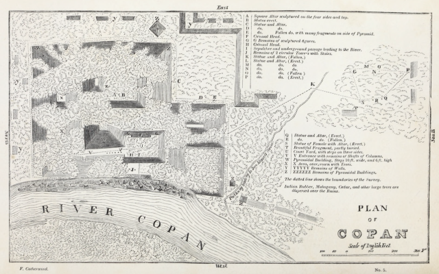 Plan of Copan-Frederick Catherwood-Broadway-Prince and Mercer Street-Manhattan-New York City-Bookworm History-Daniel Thurber
