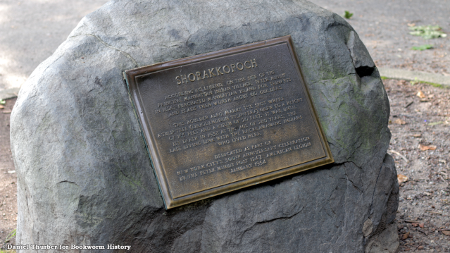 Shorakkopoch Rock-Inwood Caves-Inwood Hill Park-Manhattan-New York City-Bookworm History-City Full of History-Daniel Thurber