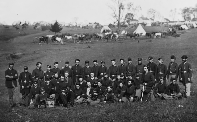 Company G - 93rd New York Infantry - Library of Congress - Cropped