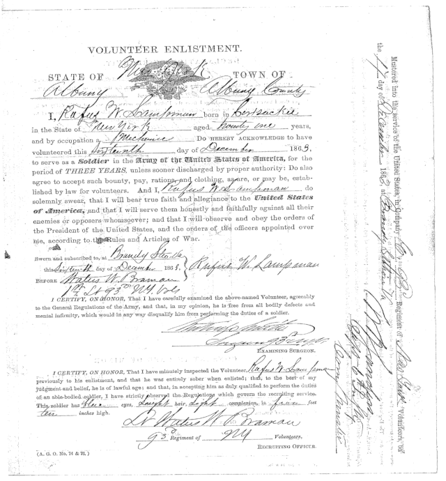 Rufus' Reenlistment Papers Cropped